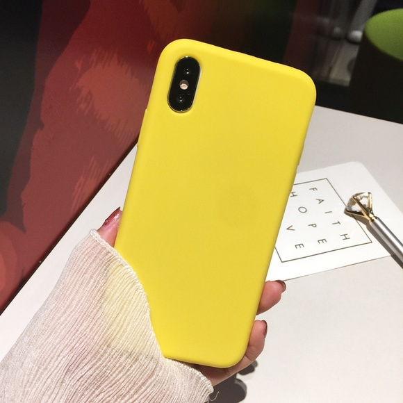buy online 020c0 93593 iPhone Cases Yellow Matte Case iPhone X Cases Boutique